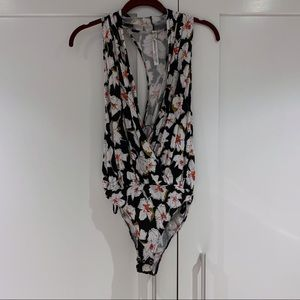 Free People Floral Bodysuit